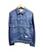 BEDWIN×CANTON(ベドウィン×カントン)の古着「デニムジャケット」|ブルー