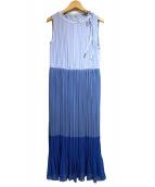 ESSENCE OF ANAYI(エッセンスオブアナイ)の古着「プリーツノースリーブワンピース」|ブルー
