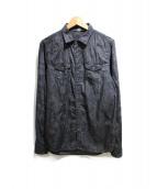 DIESEL(ディーゼル)の古着「総柄シャツ」|ブラック