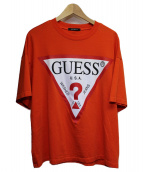 GUESS(ゲス)の古着「ロゴTシャツ」|オレンジ