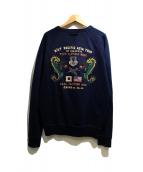 POLO RALPH LAUREN(ポロ バイ ラルフローレン)の古着「バック刺繍クルーネックスウェット」 ネイビー