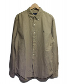 RALPH LAUREN(ラルフローレン)の古着「ボタンダウンシャツ」 ベージュ
