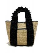 DIANA(ダイアナ)の古着「フリルハンドルハンドバッグ」|ナチュラル