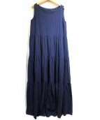 martinique(マルティニーク)の古着「コットンクレープティアードドレス」|ネイビー