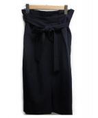 TIARA(ティアラ)の古着「セミタイトスカート」 ネイビー