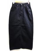 LEE×SNIDEL(リー×スナイデル)の古着「デニムスカート」|ブラック