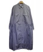 heliopole(エリオポール)の古着「ブロードデザインシャツワンピース」 ブルー