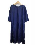 SOFIE DHOORE(ソフィードール)の古着「ブラウスワンピース」|ネイビー
