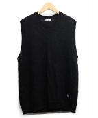 ORCIVAL(オーチバル)の古着「リネンニットベスト」 ブラック