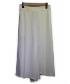 TIARA(ティアラ)の古着「ポルシェボリュームフレアパンツ」 ホワイト