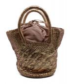 paolo masi(パオロ マージ)の古着「編込みトートバッグ」 ピンクゴールド