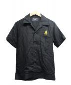 RUDE GALLERY(ルードギャラリー)の古着「ボーリングシャツ」|ブラック