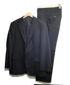 BOSS HUGO BOSS(ボス ヒューゴ ボス)の古着「3ピースセットアップスーツ」|ブラック