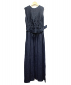 BLUEBIRD BOULEVARD(ブルーバードブルバード)の古着「VINTAGE LINEN DRESS」 ネイビー