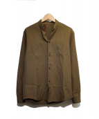 HONOR GATHERING(オナーギャザリング)の古着「ウールシャツ」 ブラウン