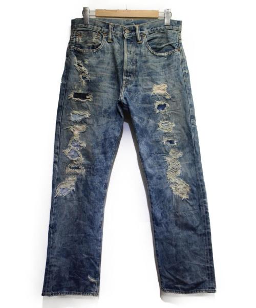 RRL(ダブルアールエル)RRL (ダブルアールエル) リメイク加工デニムパンツ インディゴ サイズ:32の古着・服飾アイテム