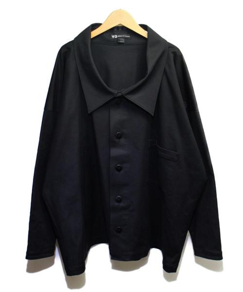 Y-3(ワイスリ)Y-3 (ワイスリー) TWILL SHIRT ブラック サイズ:XS 参考定価53.500円(税抜)の古着・服飾アイテム