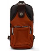 Orobianco(オロビアンコ)の古着「ボディーバッグ」|ブラウン×オレンジ