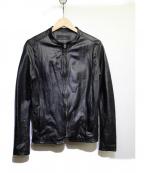 Shama(シャマ)の古着「シングルライダースジャケット」 ブラック