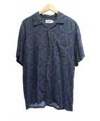 X-LARGE(エクストララージ)の古着「総柄レーヨンオープンカラーシャツ」|ネイビー