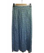 MACPHEE(マカフィ)の古着「リバティフレアロングスカート」|ライトブルー