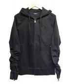 1piu1uguale3 relax(ウノピウ ウノ ウグァーレトレ リラックス)の古着「フーデッドジャケット」|ブラック
