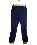 VAPORIZE(ヴェイパライズ)の古着「Bondage pants」 ネイビー