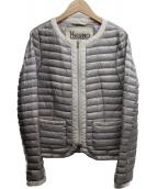 HERNO(ヘルノ)の古着「ノーカラーダウンジャケット」|グレー