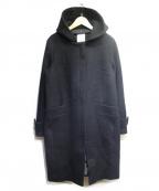 BABYLONE(バビロン)の古着「フーデッドコート」|ブラック