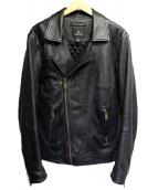 SCOTCH & SODA(スコッチアンドソーダ)の古着「ラムレザージャケット」|ブラック