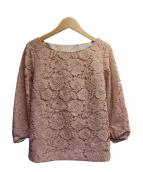 NATURAL BEAUTY(ナチュラルビューティ)の古着「フラワーレースブラウス」 ピンク