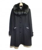 LAISSE PASSE(レッセパッセ)の古着「ファー付コート」|ブラック