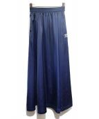 adidas(アディダス)の古着「ジャージスカート」|ネイビー