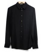 Saint Laurent Paris(サンローランパリ)の古着「シルクシャツ」|ブラック