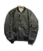 CLANE×FRAGMENT PROJECT(クラネ×フラグメント)の古着「MA-1ジャケット」|オリーブ