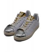 adidas(アディダス)の古着「スタンスミス」|ゴールド×ホワイト