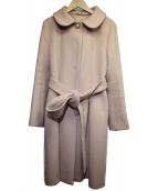 Maglie par ef-de(マーリエパーエフデ)の古着「2WAYステンカラーコート」 ピンク