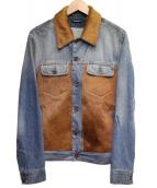DOLCE & GABBANA(ドルチェ&ガッバーナ)の古着「切替デニムジャケット」|ブルー