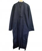 SOFIE DHOORE(ソフィードール)の古着「DAEL long sleeve dress pleat f」|ネイビー