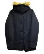 INHERIT(インヘリット)の古着「エコファートリムダウンコート」 ブラック