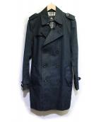 BURBERRY BLACK LABEL(バーバリーブラックレーベル)の古着「トレンチコート」|ネイビー