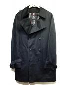 BURBERRY BLACK LABEL(バーバリーブラックレーベル)の古着「ライナー付きトレンチコート」|ブラック