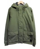 RVCA(ルーカ)の古着「フーデッドジャケット」|カーキ