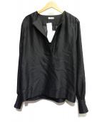 toteme(トーテム)の古着「スキッパーブラウス」|ブラック