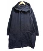 DRESSTERIOR(ドレステリア)の古着「グログランフーデッドコート」|ネイビー