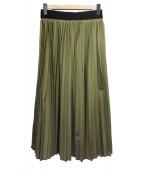 Ne-net(ネネット)の古着「プリーツスカート」|オリーブ