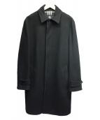 BURBERRY BLACK LABEL(バーバリーブラックレーベル)の古着「メルトンステンカラーコート」|ブラック
