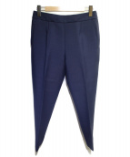 BALENCIAGA(バレンシアガ)の古着「裾ジップセンタープレスパンツ」|ネイビー