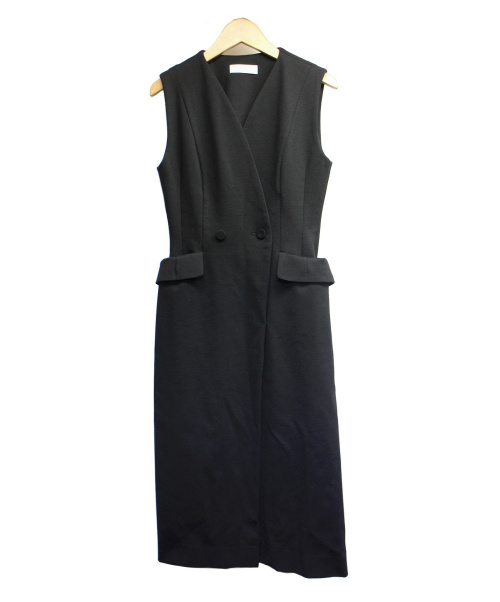 CELFORD(セルフォード)CELFORD (セルフォード) テーラードポンチワンピース ブラック サイズ:36の古着・服飾アイテム
