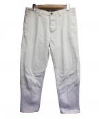PT01(ピーティーゼロウーノ)の古着「デニムパンツ」 ホワイト